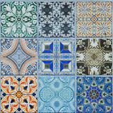 Modeller för keramiska tegelplattor Arkivfoto