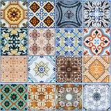 Modeller för keramiska tegelplattor från Portugal Arkivfoton
