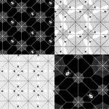 Modeller för nätverk för spindelrengöringsduk stock illustrationer