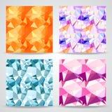 Modeller för polygonal bakgrund för vektor sömlösa Royaltyfria Bilder