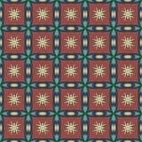 Modeller för universell vektor för siena som sömlösa belägger med tegel geometriska prydnadar Royaltyfria Bilder
