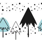Modeller för vektor för jul och för nytt år sömlösa vektor illustrationer