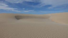 Modeller i sanden i det naturligt parkerar i Corralejo Fuerteventura Spanien arkivfoto