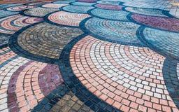 Modeller i trottoarbeståndsdelen som ska användas som bakgrund eller textur fotografering för bildbyråer