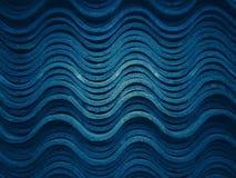 Modeller och kurvor av överlappande tegelplattor arkivbild