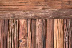 Modeller och texturer av wood väggar arkivbilder