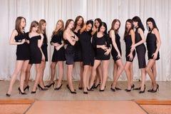 Modeller på etappen Royaltyfri Bild