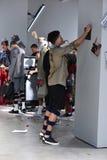 Modeller på landningsbanan på Sanchezen-Kane visar Arkivfoto