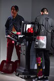 Modeller på landningsbanan på Sanchezen-Kane visar Royaltyfri Fotografi