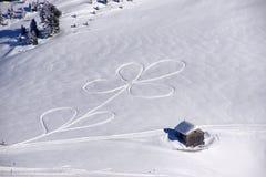 Modeller på snön arkivfoto
