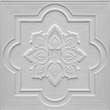 Modeller på takgipsarken av vita blommor Royaltyfria Bilder