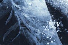 Modeller p? isen av Lake Baikal Irkutsk region, ?stliga Sibirien, arkivfoto