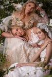 Modeller som poserar under Claire Pettibone Four Seasons Collection, ställer ut Arkivbilder
