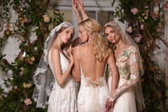 Modeller som poserar under Claire Pettibone Four Seasons Collection, ställer ut Arkivbild