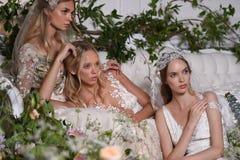 Modeller som poserar under Claire Pettibone Four Seasons Collection, ställer ut Fotografering för Bildbyråer