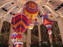 Modellera ballon för varm luft i den Wynn slotten, Macao arkivfoto