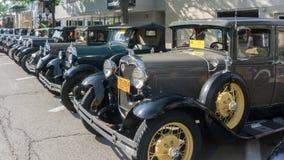 Modellera a-bilar på på den Woodward drömkryssningen Arkivbilder