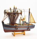 Modellera det gamla fiskskeppet arkivbild