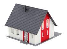 modellera för hus för dator 3d model Arkivbilder