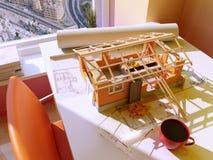 modellera för hus för dator 3d model Royaltyfri Bild