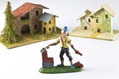Modellera huset och konstruktion Arkivfoton