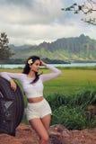 Modellering in Oahu stock fotografie