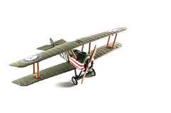 Modellflygplan - Tiger Moth Royaltyfri Foto