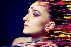Modellfrämling för ung kvinna, fotografering för bildbyråer