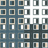 Modellfyrkant med ramen och häftklammer Fotografering för Bildbyråer