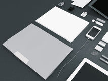 Modellgeschäftsschablone Stockbild