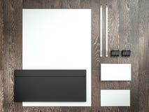 Modellgeschäftsschablone Satz Elemente für Brandingidentität lizenzfreies stockfoto