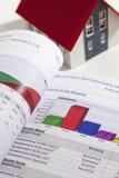 Modellhus med energikapacitetscertifikatet Royaltyfria Foton