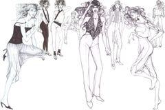Modelli affascinanti alla moda Immagini Stock