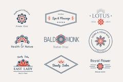 Modelli asiatici di logo di vettore Fotografia Stock