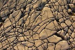 Modelli astratti in calcare sulla spiaggia del inj del ¡ del Mali LoÅ Fotografie Stock