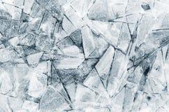 Modelli astratti del ghiaccio Fotografie Stock Libere da Diritti