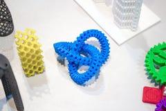Modelli astratti stampati dal primo piano della stampante 3d Fotografia Stock