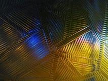 Modelli astratti trasparenti contro il contesto delle luci notturne fotografie stock