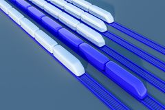 Modelli bianchi e blu diagonali del treno royalty illustrazione gratis