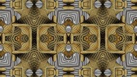 Modelli caleidoscopici nei toni gialli, immagine raster per il DES Fotografia Stock Libera da Diritti