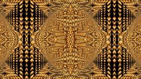Modelli caleidoscopici nei toni gialli, immagine raster per il DES Immagine Stock