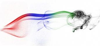 Modelli colorati del fumo Immagini Stock