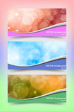 Modelli colorati dell'insegna con bello bokeh Fotografia Stock Libera da Diritti