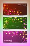 Modelli colorati dell'insegna con i piccoli cuori Immagine Stock Libera da Diritti
