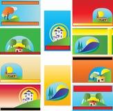 Modelli Colourful del biglietto da visita Immagini Stock