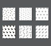 Modelli con gli elementi grafici Immagine Stock