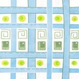 Modelli con i mattoni dei quadrati illustrazione di stock
