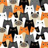 Modelli con l'idea sveglia dei gatti Fotografia Stock Libera da Diritti
