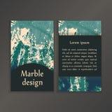 Modelli creativi astratti della carta Nozze, menu, inviti, compleanno, biglietti da visita con struttura di marmo in d'avanguardi Fotografia Stock Libera da Diritti