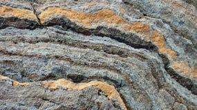 Modelli curvi della roccia fotografia stock